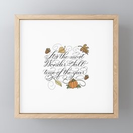Fall Autumn-It's the most Wonder-Fall time of the year Framed Mini Art Print