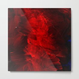 Red Abstract Paint Metal Print