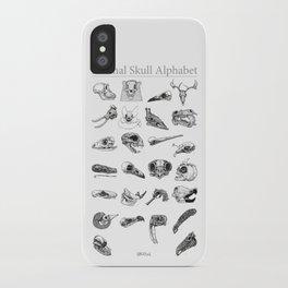 Animal Skull Alphabet iPhone Case