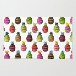 Psychedelic Pineapples in Tropical Colors | Maximalist Pattern Rug