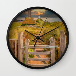 Llanddwyn Island Sunset Anglesey Wall Clock