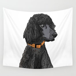Misza the Black Standard Poodle Wall Tapestry