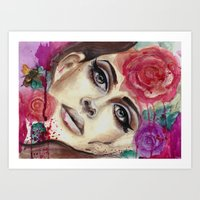 Lana Watercolor Painting Del Rey Art Print