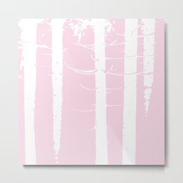 Pink Forest Pattern Metal Print