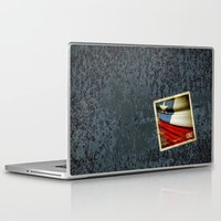 chile Laptop & iPad Skins featuring Chile grunge sticker flag by Lulla