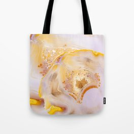 Modern Blush and gold Agate Tote Bag