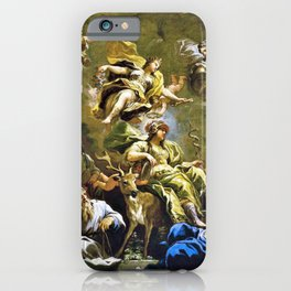 Luca Giordano - Allegory Of Prudence - Digital Remastered Edition iPhone Case
