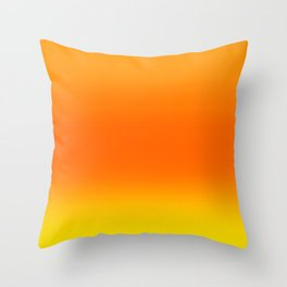 Sunset Ombre Abstract Throw Pillow