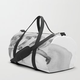 Parrots In a Row - Black & White Duffle Bag