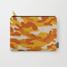 Orange Military Camouflage Pattern Carry-All Pouch