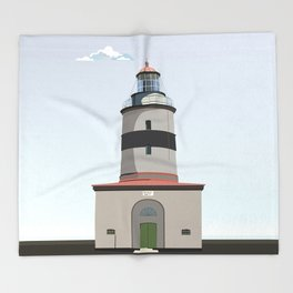 The lighthouse of Falsterbo Throw Blanket