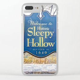 Sleepy Hollow Town Sign Clear iPhone Case
