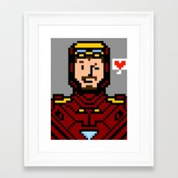 tony stark Framed Art Prints featuring tony stark by saltyking