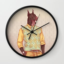 Rudolph the Great Dane Wall Clock