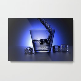 Waterglas Metal Print