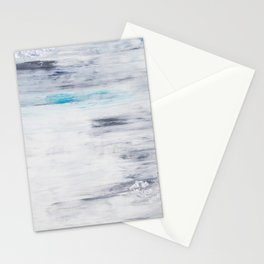 Silver Leaf Frozen with Teal Stationery Cards
