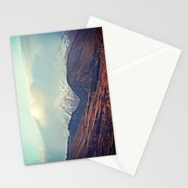 Dusk Descends on the Mountains Stationery Cards
