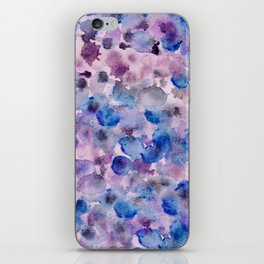 Beautiful ink and watercolour spot pattern iPhone Skin