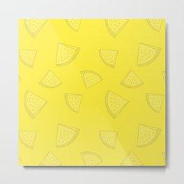 Watermelons in Yellow Metal Print