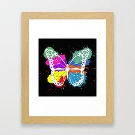 Grunge butterfly Framed Art Print