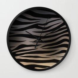 Zebra Sunset Wall Clock