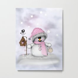 Snow child Metal Print