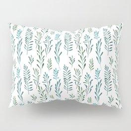 Seamless natural botanical watercolor pattern Pillow Sham