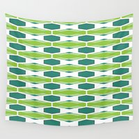 mod Wall Tapestries featuring Mod Honeycomb by Holly Helgeson
