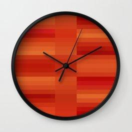Rusty Orange Abstract Wall Clock