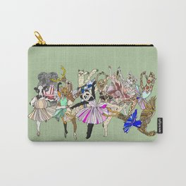 Animal Ballet Hipsters - Green Carry-All Pouch