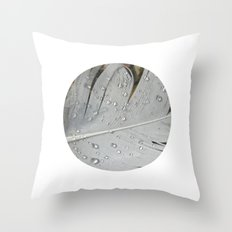 feather macro XIII Throw Pillow
