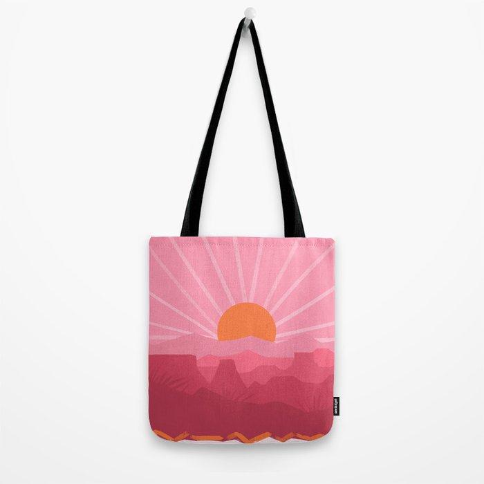 Minimalist Canyons Tote Bag