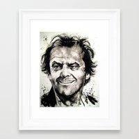 jack nicholson Framed Art Prints featuring Jack Nicholson by Chuck Hodi