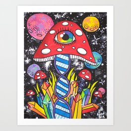 Psychedelic DNA Art Print