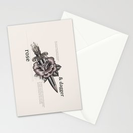 Rose & Dagger Stationery Cards