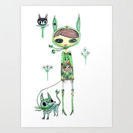 punk gree Art Print