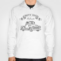truck Hoodies featuring Chevy Truck by pakowacz