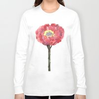 peonies Long Sleeve T-shirts featuring Peonies by GANTPANTS