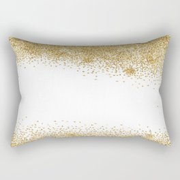 Sparkling golden glitter confetti effect Rectangular Pillow