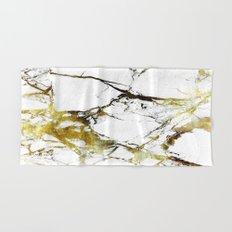 Gold-White Marble Impress Hand & Bath Towel