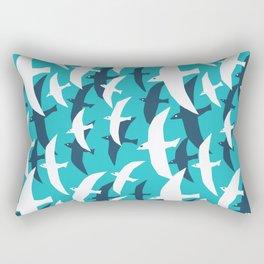 Seagulls, seamless pattern Rectangular Pillow