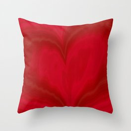 Valentine's Day Red Heart Pattern Throw Pillow