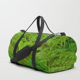 ABSTRACTED  GREEN  TROPICAL FERNS GARDEN ART Duffle Bag