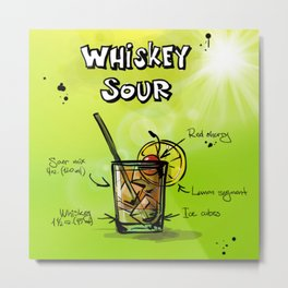 Whiskey_Sour_002_by_JAMFoto Metal Print