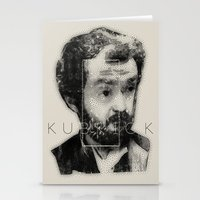stanley kubrick Stationery Cards featuring kubrick by Levvvel