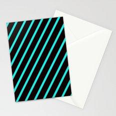 Blue & Black Stripes Stationery Cards