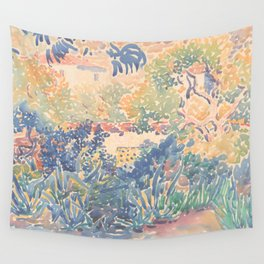 The Artist's Garden at Saint-Clair by Henri-Edmond Cross 1904-5, French Wall Tapestry