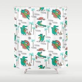 Alligator vacation tropical gator life palm beach socal florida gators Shower Curtain