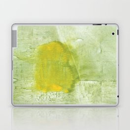 Green abstract aquarelle painting Laptop & iPad Skin