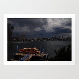 Stormy Sydney Harbour Art Print
